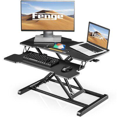 Latitude Run Margarid Height Adjustable Standing Desk In 2020