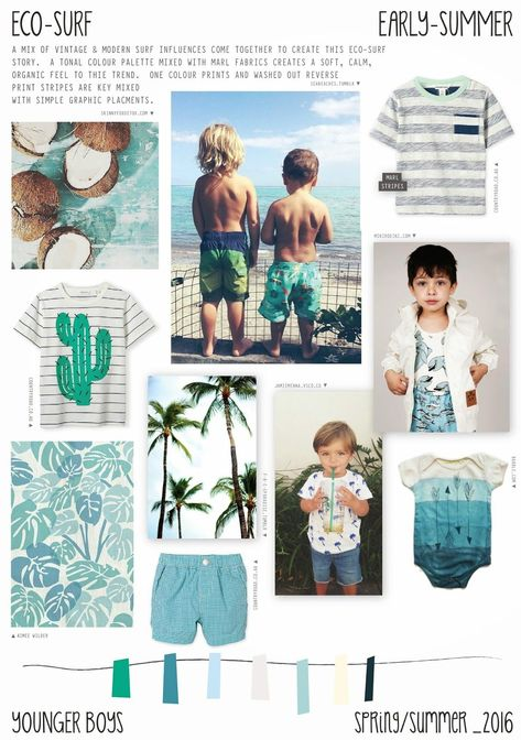 Emily Kiddy: Spring/Summer 2016 - Younger Boys Fashion - Eco-Surf Trend #KidsFashionTrends