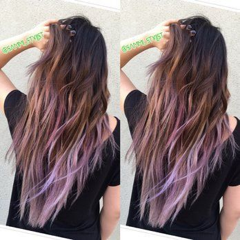 Image Result For Cerise Ombre Light Brown Hair Lavender Hair Tips Hair Styles Purple Hair