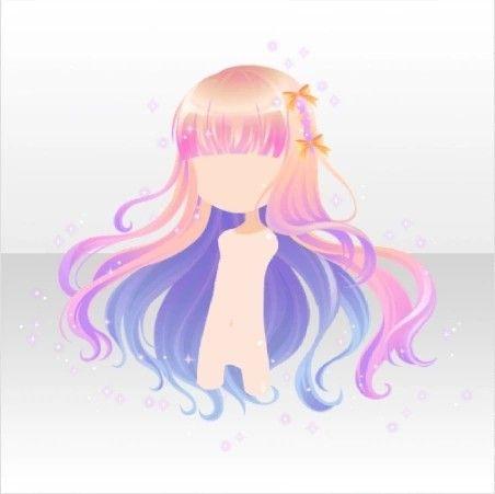 Night Dress Party Night Sky Fluffy Hair Ver A Pink Girl Hair Colors Anime Hair Manga Hair