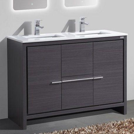 Bosley 48 Double Sink Modern Bathroom Vanity Set Bathroom