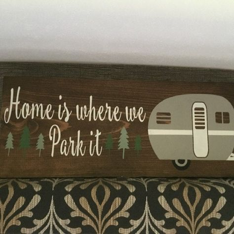 Home Is Where We Park It Trailer Camper Sign Personalized Camping Metal Sign