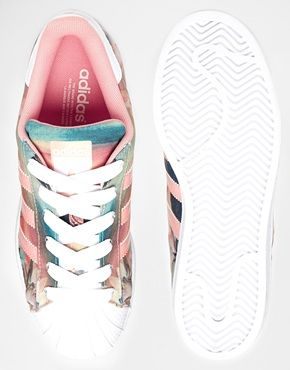adidas superstar w dust pink print trainers