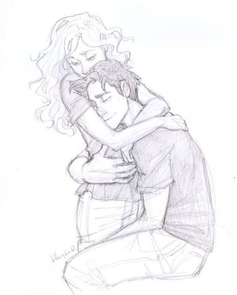 40 Romantic Couple Hugging Drawings and Sketches - Buzz 2018