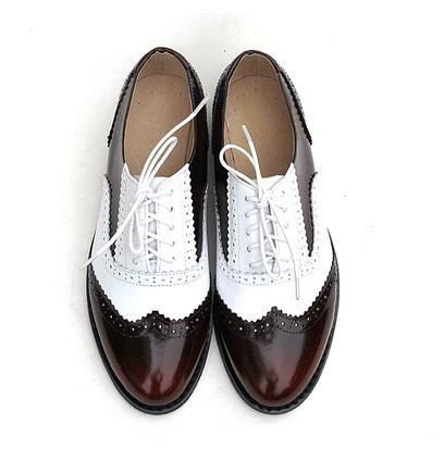 Vintage Genuine Leather Oxford Brogues 9 Styles Women Oxford Shoes Black Patent Leather Shoes Oxford Brogues