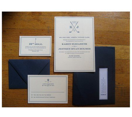 golf wedding invitations