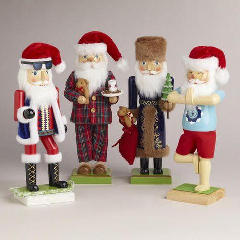 One of my favorite discoveries at WorldMarket.com: Santa Nutcrackers