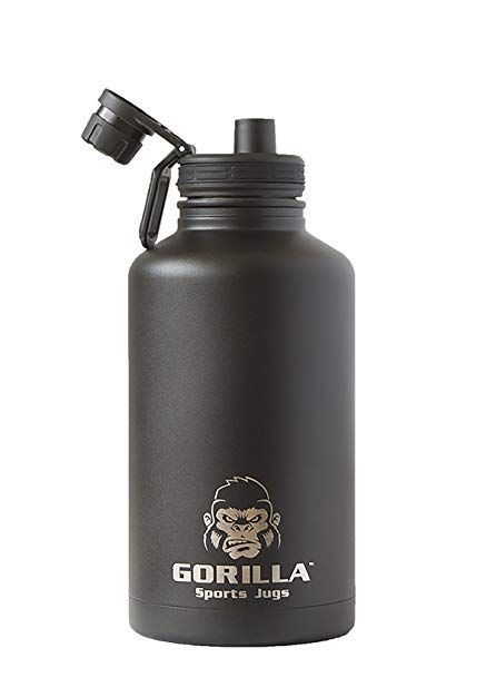 Gorilla Sports Jug 1 2 Gallon Insulated Water Bottle Review Insulated Water Bottle Trendy Water Bottles Water Bottle Reviews