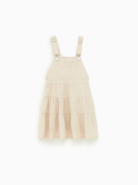 Bild 1 Von Latzrock Mit Strukturmuster Und Tasche Von Zara Madchen Kleidung Modestil Overall Kleid