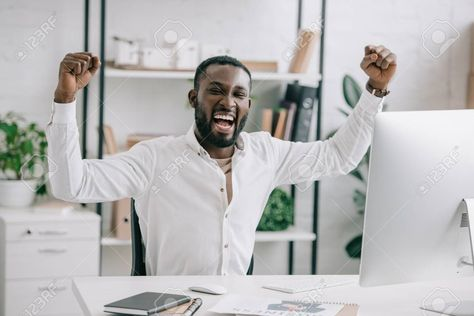 Excited African American businessman screaming and showing yes gesture in office... -  Excited African American businessman screaming and showing yes gesture in office , #AFFILIATE, #Ame - #abstractFashionDesigners #african #africanamericanFashionDesigners #american #blackFashionDesigners #Businessman #excited #FashionDesignersdrawings #FashionDesignersportfolio #Gesture #Office #screaming #Showing