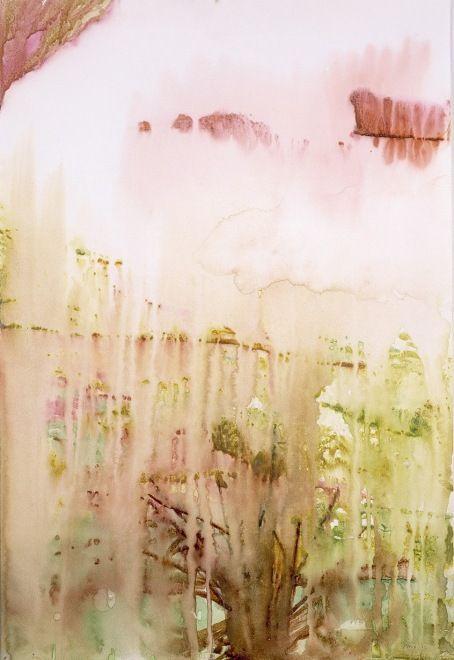Peter Doig ~ Driftwood (Yara) 2002 (watercolour on paper)