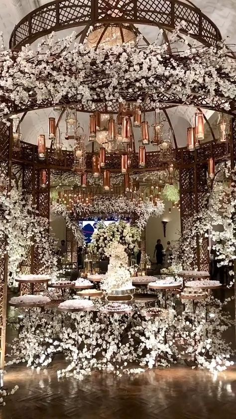 Desi Wedding Decor, Luxury Wedding Decor, Wedding Decorations On A Budget, Glamorous Wedding, Wedding Guest Table, Wedding Gazebo, Bronze Wedding, Silver Wedding Invitations, Dusty Rose Wedding