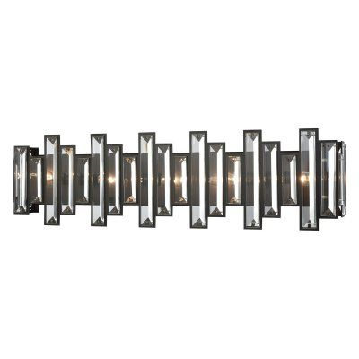 ELK Lighting 330 Crystal 5 Light Bathroom Vanity Light   33002/5. Elk LightingOil  Rubbed BronzeClear ...