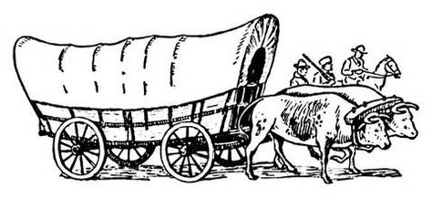 Oregon Trail Covered Wagon Coloring Pages Google Search Math