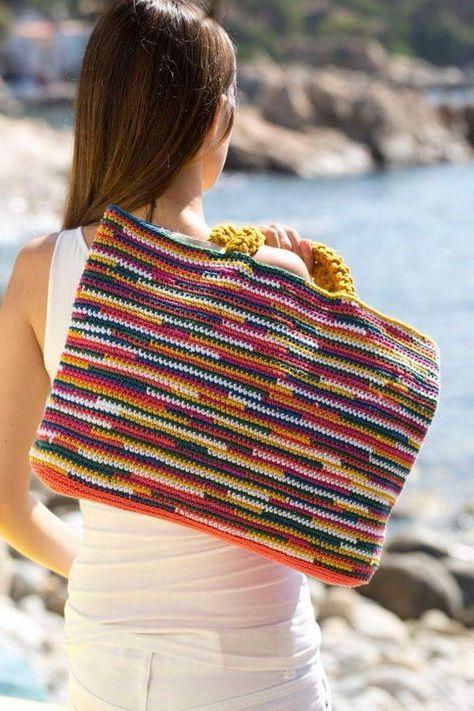 Beautiful Crochet Bag Patterns #CrochetBagPatterns #CrochetPatterns #CrochetBags #Crochet