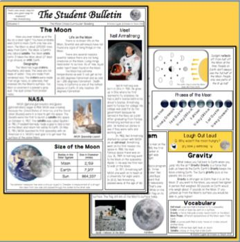 The Moon Informational Text Science Social Studies Reading