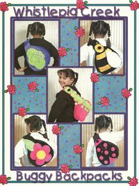 Buggy Backpacks Backpack Patterns by Whistlepig Creek at KayeWood.com Pattern for frog, caterpillar, flower, ladybug and bee backpacks for your tot! http://www.kayewood.com/item/Buggy_Backpacks_Pattern/1188 $12.00