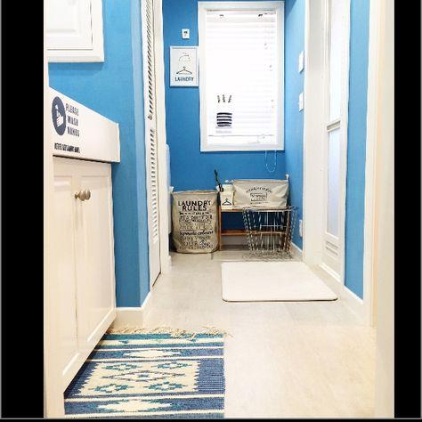 mtokさんの、Bathroom,無印良品,ダイソー,洗面所,ラグ,脱衣所,バスマット,3Coins,ランドリーバスケット,soil,西海岸,洗濯場,バンブーブラインド,西海岸インテリアについての部屋写真