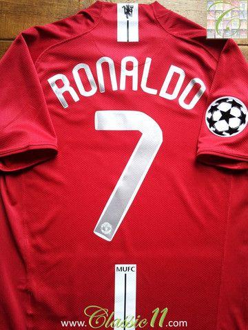 1fa49de7e ... Cristiano Ronaldos 20072008 Champions League vintage Nike Manchester  United home football shirt.
