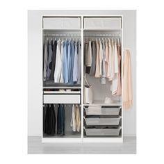 Kleiderschrank ikea pax  PAX Kleiderschrank, weiß, Auli Spiegelglas | Room, Wardrobe design ...