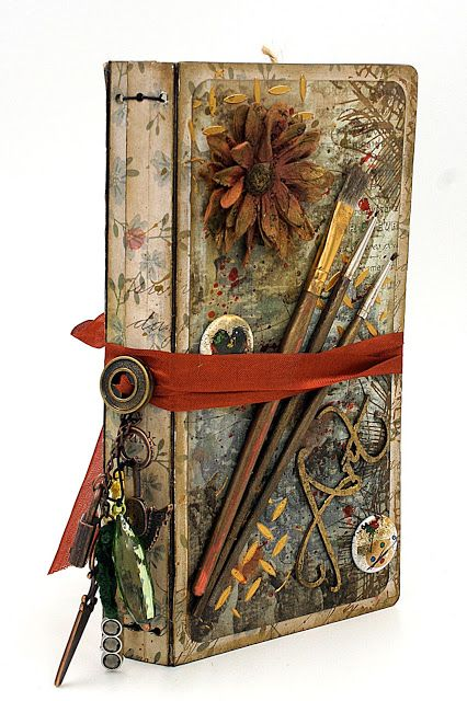 Journal and how to use up your stash! Use your stash to make a Junk Journal. Use your stash to make a Junk Journal. Scrapbook Journal, Mini Scrapbook Albums, Kids Scrapbook, Scrapbooking Layouts, Handmade Journals, Handmade Books, Handmade Notebook, Art Journal Pages, Junk Journal