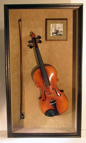 Violin Shadowbox Picture Frame Custom Picture Frame Shadow Box