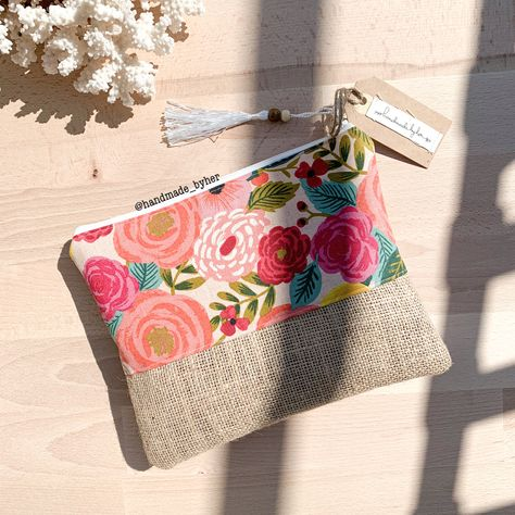 African Style Pattern Canvas Coin Purse Small Cute Change Cash Bag With Zip
