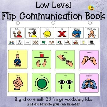 Low Level Aac Flip Communication Book Communication Book