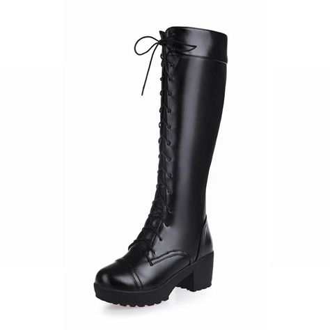 13e7d58fdaff Show Shine Women s Platform High Chunky Heel Knee High Tall Boots Riding  Boots     Want additional info  Click on the image.