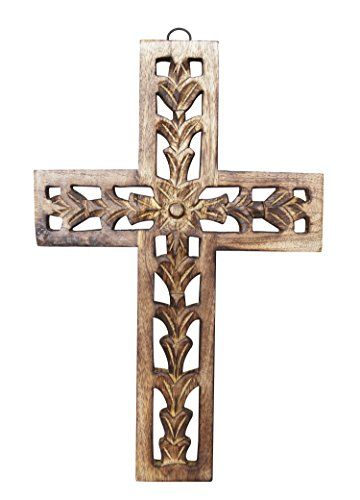 Christmas Gifts Wooden Wall Cross Plaque 12 Long Hanging Https