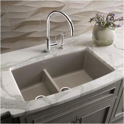 You Ll Love The Performa 33 X 19 Silgranit Ii 1 75 Double Bowl Undermount Undermount Kitchen Sinks Granite Kitchen Sinks Double Bowl Undermount Kitchen Sink