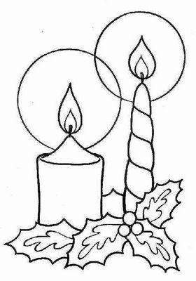 Dibujos Y Plantillas Para Imprimir Velas Navidad Dibujo De Navidad Dibujos De Navidad Siluetas De Navidad