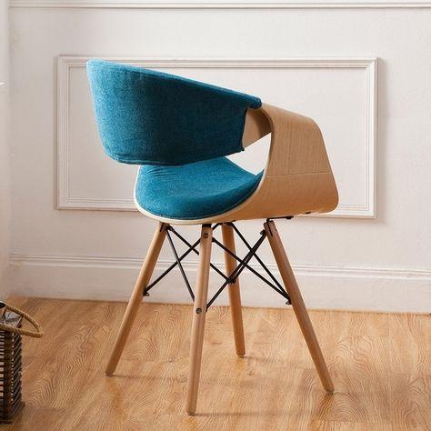 Outstanding Corvus Adams Contemporary Teal Blue Accent Chair Bindu Gamerscity Chair Design For Home Gamerscityorg