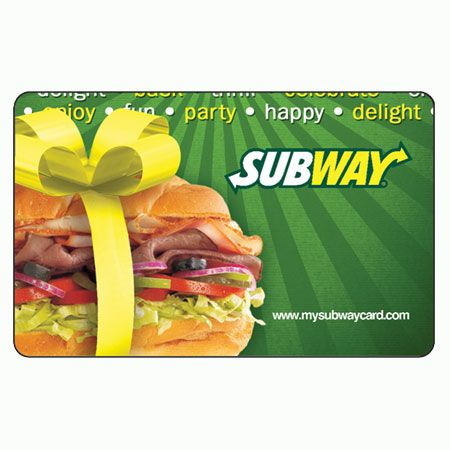 Click On The Subway Gift Card To Check Balance online | Gift Card ...