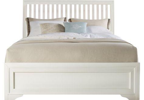 Belcourt White 3 Pc King Slat Bed