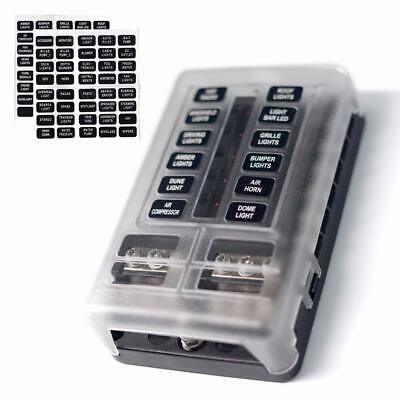 Details About 12 Way Fuse Block W Negative Bus Joyho Atc Ato Fuse Box With Ground Fuse Box Boating Tips Fuse Panel