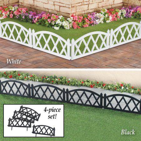 Patio Garden With Images Garden Border Edging Picket Fence