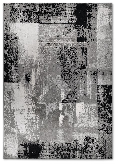 Distressed Mode Area Rug 5 X 8