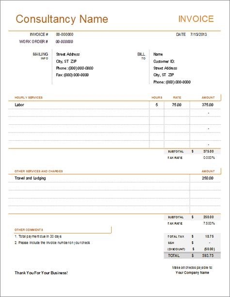 Consulting Invoice Preview Free Excel Templates Pinterest - consulting invoice template