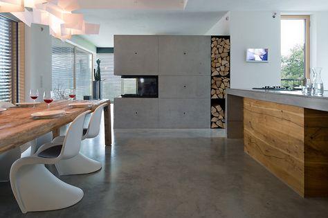 Bauhaus küchenarbeitsplatte ~ Beton ist modern aber kalt nein! nicht mit einem brunner