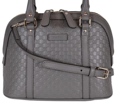 d6d742b1fcb NEW Gucci 449654 $995 Micro GG Grey Leather Convertible Mini Dome Purse  #Gucci #Satchel