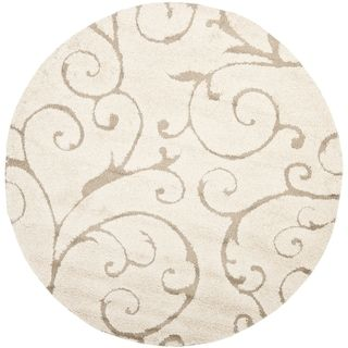 Safavieh Florida Shag Shahin Scroll Rug 2 3 X 8 Runner Ivory