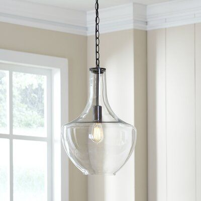 Brayden Studio Dunmore 1 Light Single Teardrop Pendant Glass Pendant Light Pendant Lighting Pendant