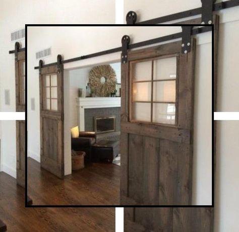 Farmhouse Door Hardware Real Sliding Barn Door Hardware Heavy Duty Sliding Door Hardware In 2020 Interior Barn