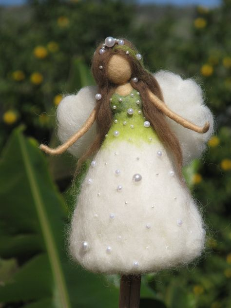 Christmas tree topper Needle felted Waldorf inspired Ornament Flower Fairy Lily…