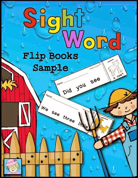 Teacher Tam's Educational Adventures: Sight Word Flip Books and a FREEBIE!