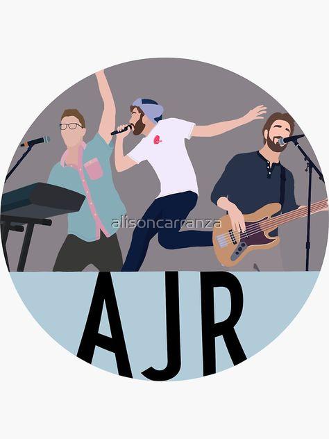 Ajr Circle (grey) Sticker by alisoncarranza
