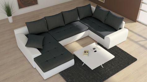 Couch u form  Couchgarnitur Schlafsofa Polsterecke Sofagarnitur Sofa FUTURE 2 ...