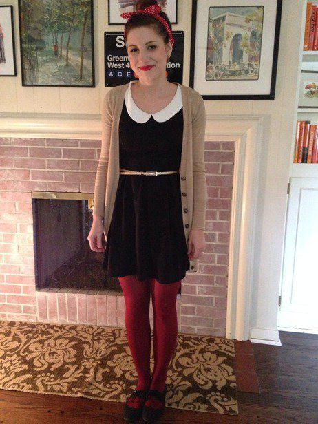 Record Time A-Line Dress in Black | Mod Retro Vintage Dresses | ModCloth.com