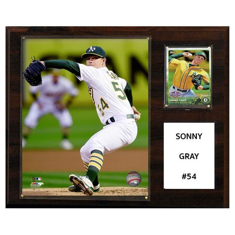 C and I Collectables MLB 15W x 12H in. Sonny Gray Oakland Athletics Player Plaque - 1215SGRAY